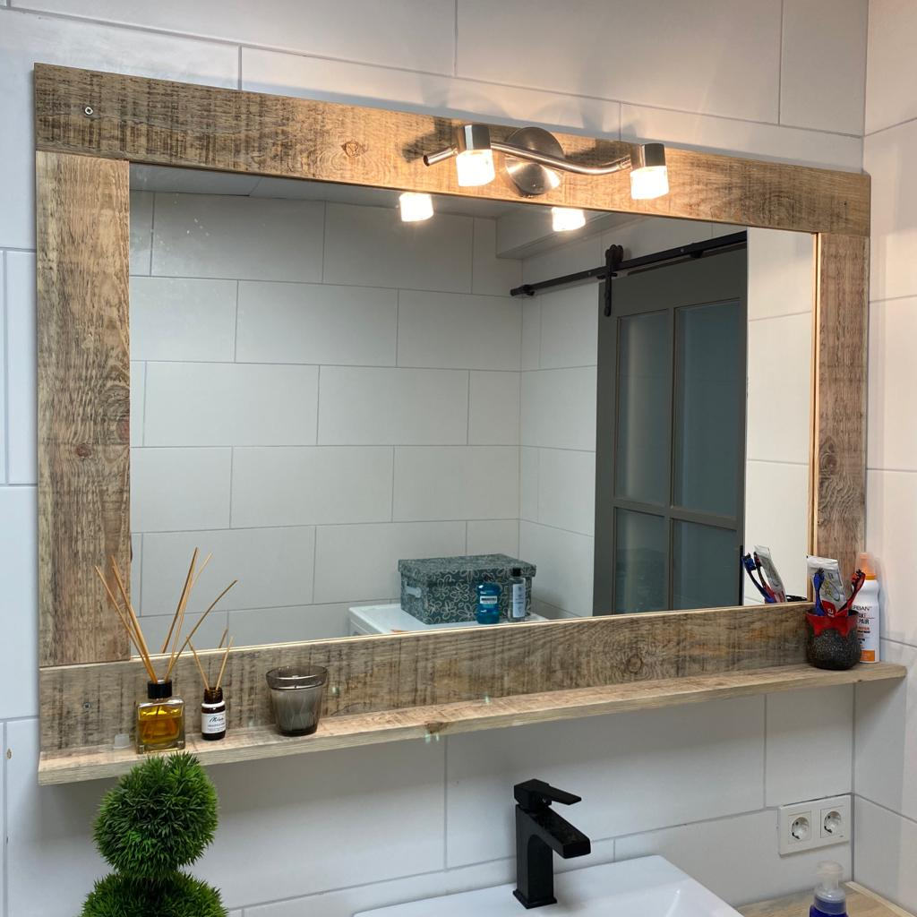 Netto Masif Ahşap Banyo Aynası – Hamira l Masif Hayat